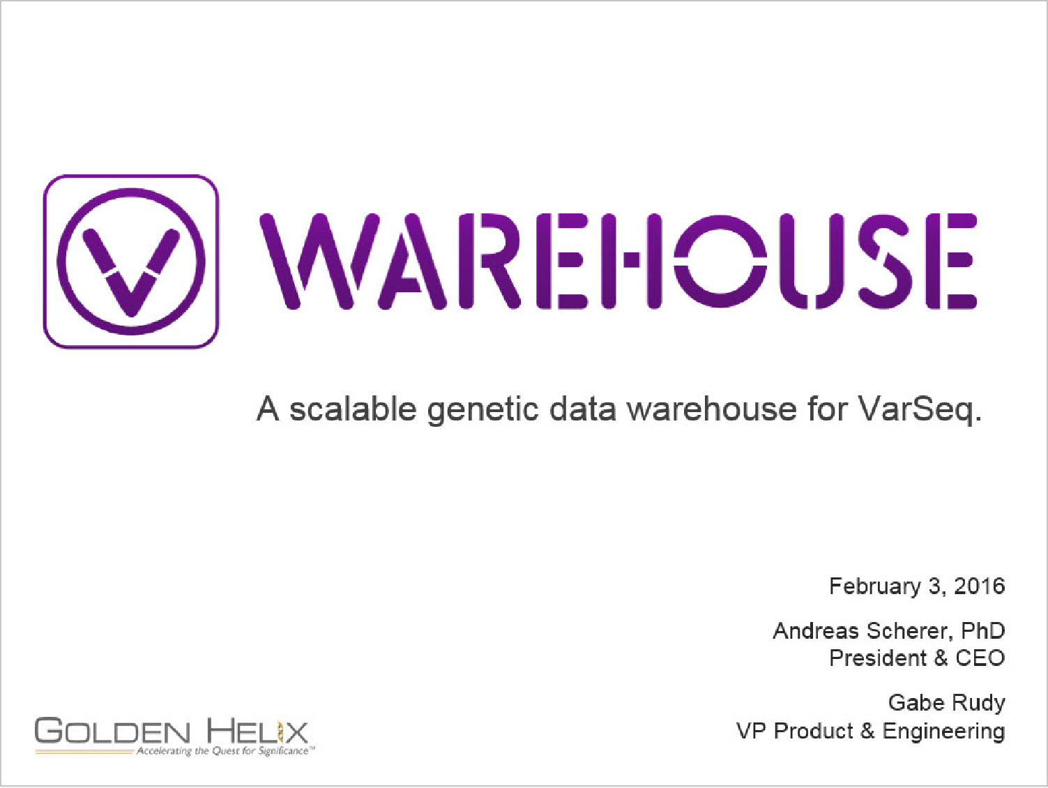 Introducing VSWarehouse