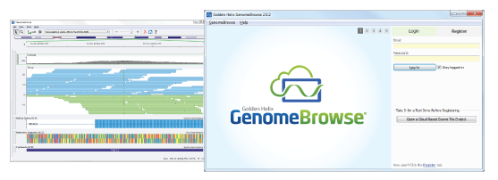 Two Tiled GenomeBrowse screenshots