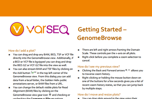 VarSeq Using GenomeBrowse