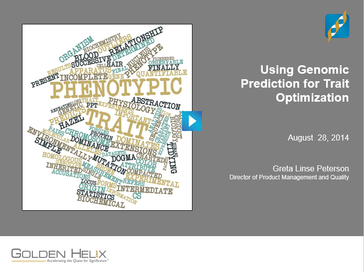Genomic Prediction Webcast splashscreen