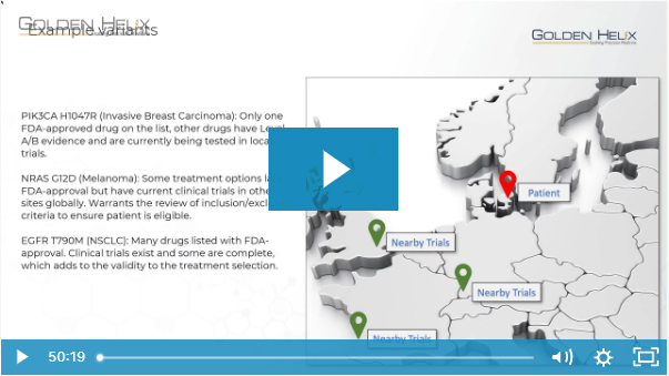 A User's Perspective: Drugs & Trials for Cancer Diagnostics