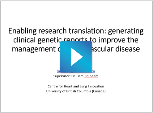 Enabling research translation: generating clinical genetic reports to improve the management of cardiovascular disease