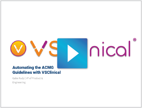 Automating ACMG Guidelines with VSClinical