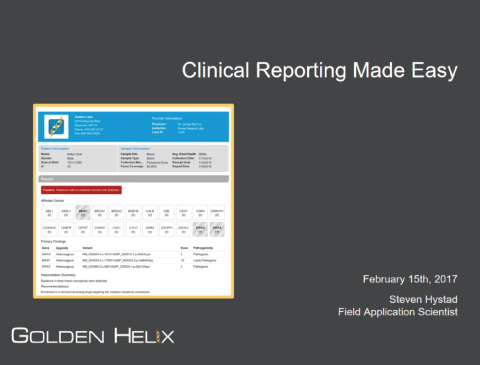 Clinical Reporting Made Easy