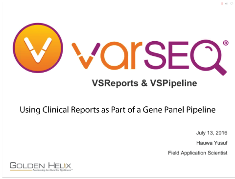 Using Clinical Reports as a part of a Gene Panel Pipeline