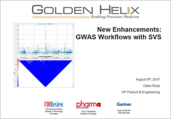 GWAS workflows in SVS