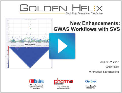 New Enhancements: GWAS Workflows with SVS