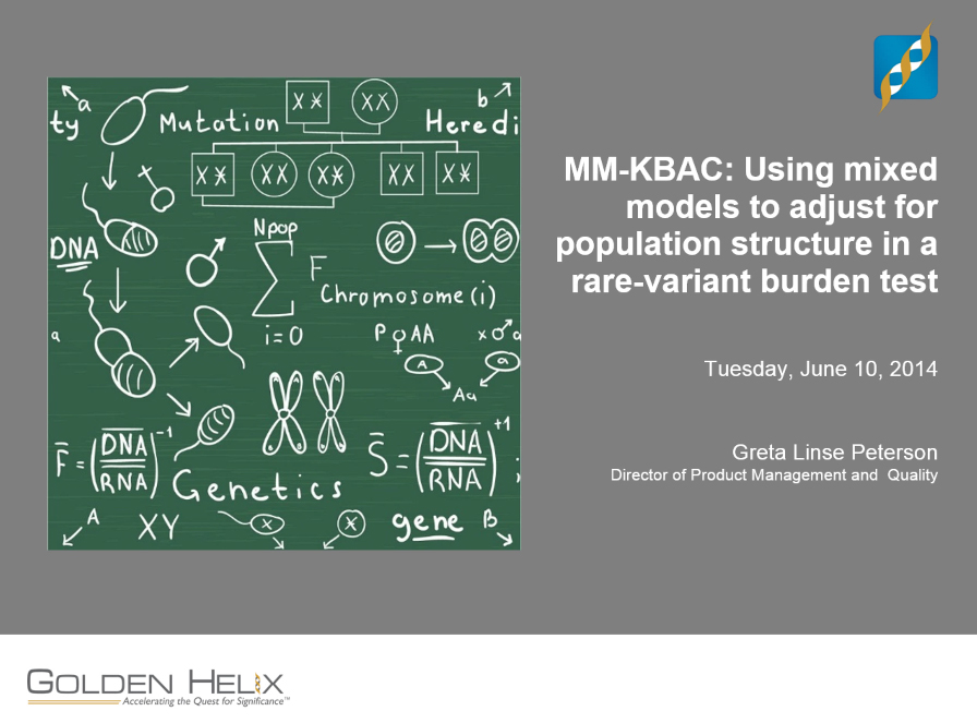 MM-KBAC: Using mixed models to adjust for a population structure in a rare-variant burden test