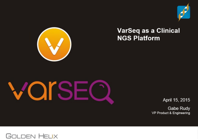 VarSeq as a Clinical NGS Platform