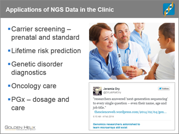 Using Public Access Clinical Databases to Interpret NGS Variants