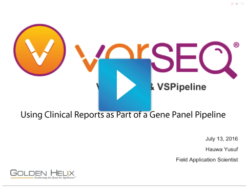 Using Clinical Reports as a aport of a Gene Panel Pipeline