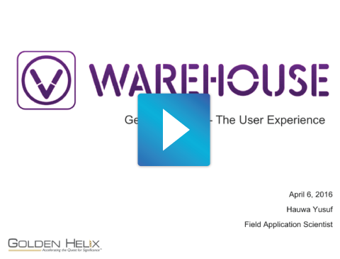 Getting Started with VSWarehouse - The User Experience